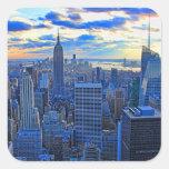 El horizonte de la última hora de la tarde NYC Colcomania Cuadrada