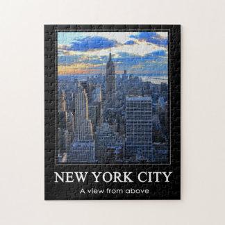 El horizonte de la última hora de la tarde NYC Puzzles Con Fotos