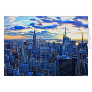 El horizonte de la última hora de la tarde NYC Tarjeta De Felicitación