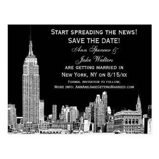 El horizonte de NYC 01 DIY grabados al agua fuerte Tarjetas Postales