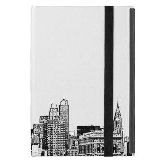El horizonte de NYC grabó al agua fuerte 01 iPad Mini Funda
