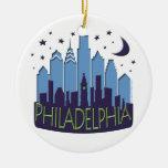 El horizonte de Philly mega se refresca Adorno Navideño Redondo De Cerámica