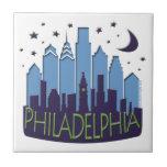 El horizonte de Philly mega se refresca Azulejos