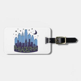 El horizonte de Philly mega se refresca Etiqueta Para Equipaje
