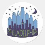 El horizonte de Philly mega se refresca Pegatina Redonda
