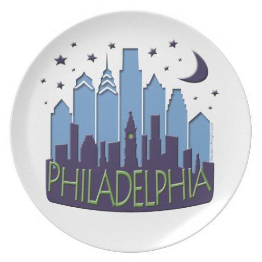 El horizonte de Philly mega se refresca Plato Para Fiesta