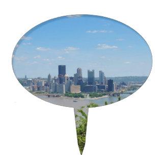 El horizonte de Pittsburgh del West End pasa por Decoración De Tarta