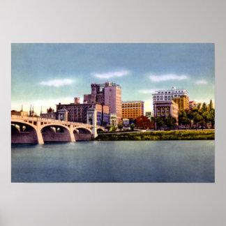El horizonte Susquehanna de Pennsylvania de la bar Poster