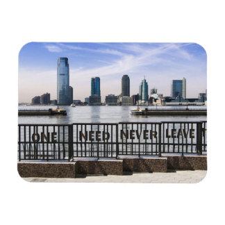 El horizonte uno de Jersey City nunca necesita Rectangle Magnet