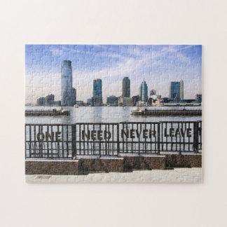 El horizonte uno de Jersey City nunca necesita Rompecabezas Con Fotos