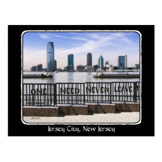 El horizonte uno de Jersey City nunca necesita Tarjeta Postal