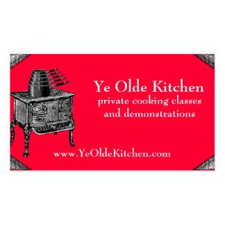 El horno de encargo de la estufa del vintage del tarjetas de visita