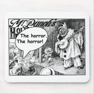 El horror (payaso malvado del banjo) tapete de raton