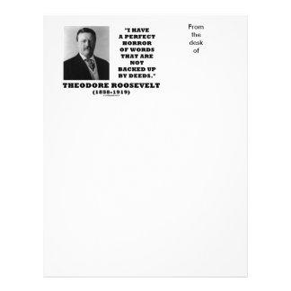 El horror perfecto de Theodore Roosevelt redacta Membrete A Diseño
