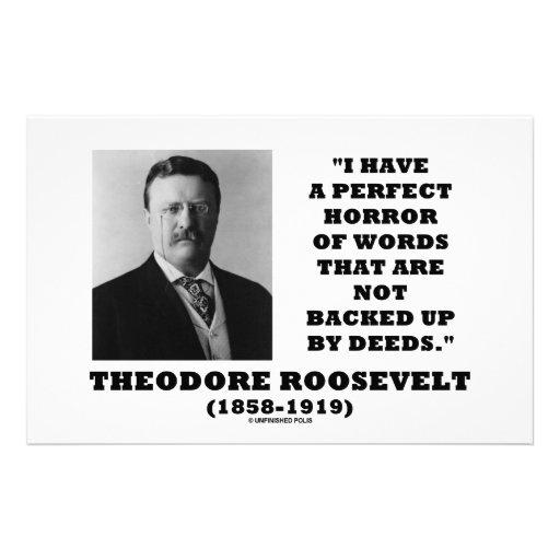 El horror perfecto de Theodore Roosevelt redacta Personalized Stationery