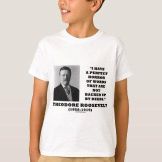 El horror perfecto de Theodore Roosevelt redacta Playera