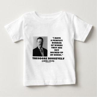 El horror perfecto de Theodore Roosevelt redacta Playera De Bebé