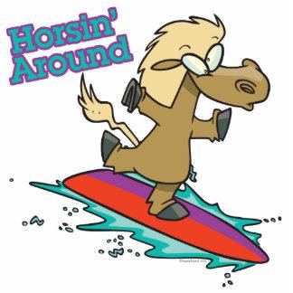 el horsing alrededor de dibujo animado divertido d esculturas fotograficas