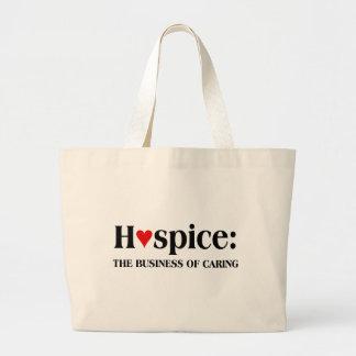 El hospicio está en el negocio de cuidar para otro bolsa tela grande