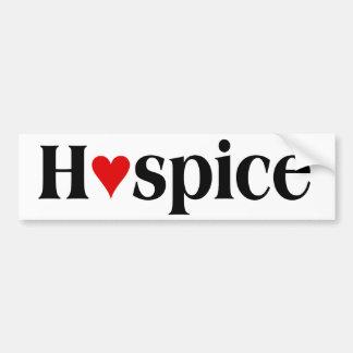 El hospicio está en el negocio de cuidar para otro pegatina para auto