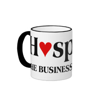 El hospicio está en el negocio de cuidar para taza de dos colores