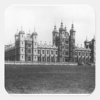 El hospital de Donaldson, construido 1833-51 Pegatina Cuadrada