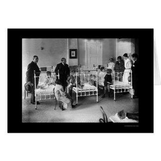 El hospital de niños en Nueva York 1920 Tarjeta De Felicitación