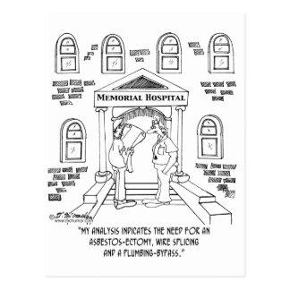 El hospital necesita un Amianto-ectomy Tarjetas Postales