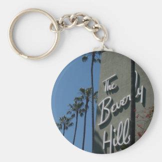 El hotel de Beverly Hills Llavero Redondo Tipo Pin