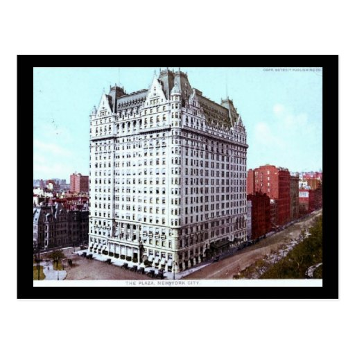 El hotel de la plaza, vintage de New York City Tarjeta Postal