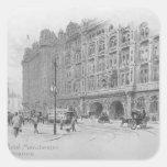 El hotel de Midland, Manchester, c.1910 Pegatina Cuadrada