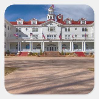 El hotel de Stanley Pegatina Cuadrada