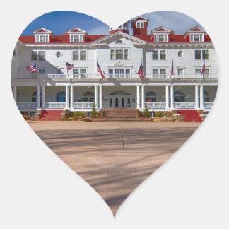 El hotel de Stanley Pegatina En Forma De Corazón