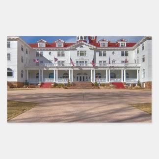 El hotel de Stanley Pegatina Rectangular