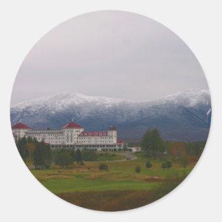 El hotel de Washington del soporte Pegatina Redonda