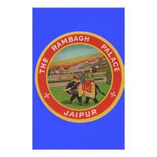 El hotel del palacio de Rambagh - Jaipur la India  Papelería De Diseño
