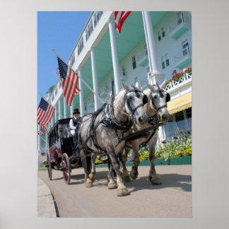 El hotel magnífico - isla de Mackinac, Michigan Póster