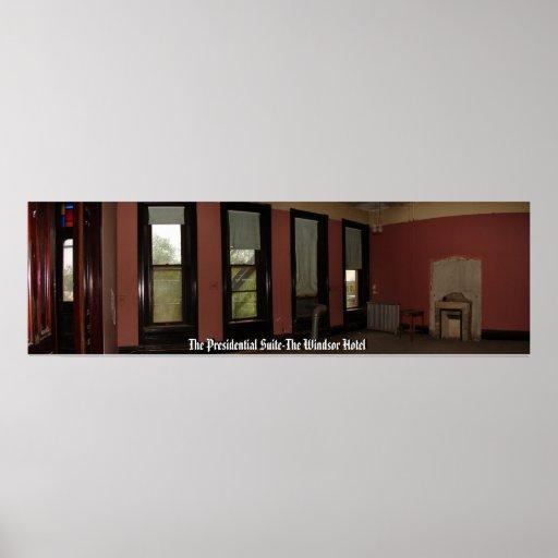 El hotel presidencial version3 de Windsor de la Ha Póster
