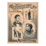 El Houdinis, 'cambio de la metamorfosis en 3 segun Tarjeta Postal
