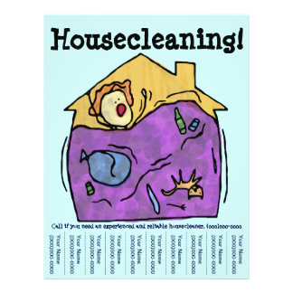 ¡El Housecleaning! Aviador Flyer A Todo Color