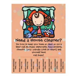 El Housecleaning. Limpiador de la casa. Personaliz Tarjetas Informativas