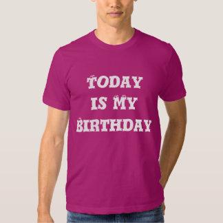 El hoy es mi camiseta del cumpleaños remeras