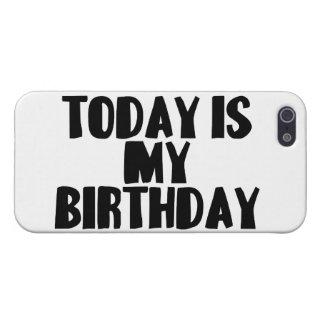 El hoy es mi cumpleaños iPhone 5 cárcasa