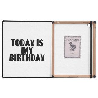 El hoy es mi cumpleaños iPad cárcasa