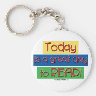 el hoy es un gran día para leer llavero