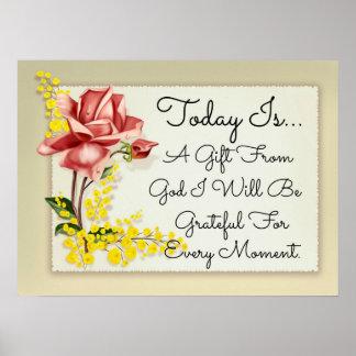 El hoy es un regalo del poster de dios
