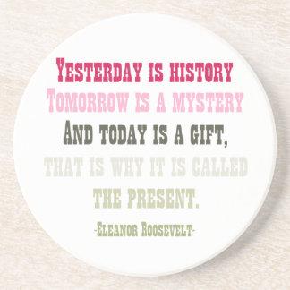 El hoy es un regalo posavasos manualidades