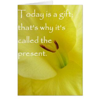 El hoy es un regalo tarjeta pequeña