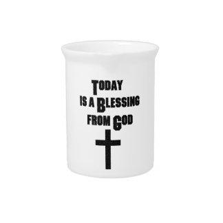El hoy es una bendición de dios jarras de beber