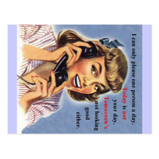 El hoy no es su día tarjetas postales